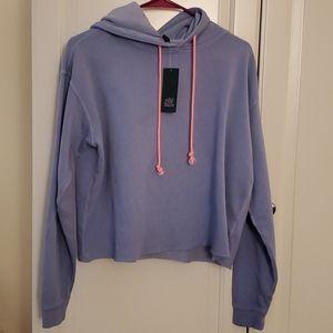 Periwinkle cropped hoodie